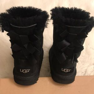 Ugg black bow boots size 9
